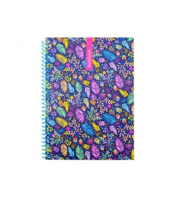 Блокнот А5 100арк клітинка Pattern, бічна спіраль, пластикова обкладинка, Optima