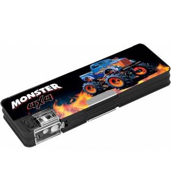 Пенал пластиковий 2 відділення на магніті Monster, Cool for School