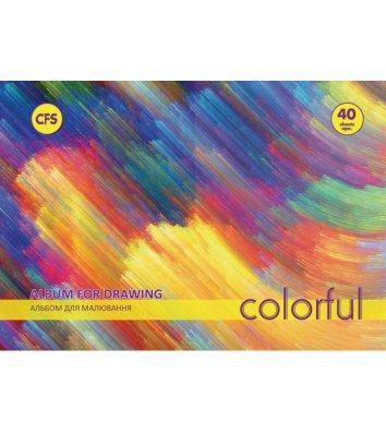 """Альбом для малювання  А4 40арк на пружині """"Colorful"""" асорті, Cool for School"""