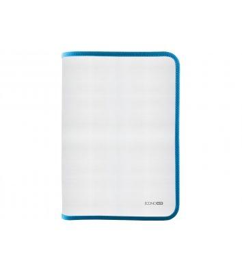 Папка A4 пластиковая прозрачная с голубой молнией, Economix