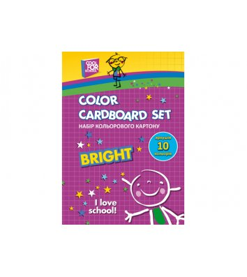 Картон цветной односторонний А5 10л, Cool for School