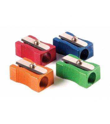 Точилка металлическая 1 лезвие ассорти цветная, Optima