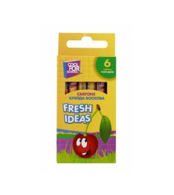 "Крейда воскова кольорова  6шт ""Fresh Ideas"", Cool for School"