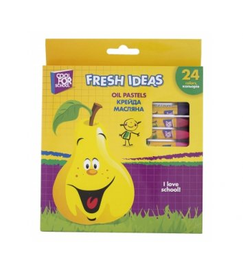 "Мел масляный цветной 24шт ""Fresh Ideas"", Cool for School"