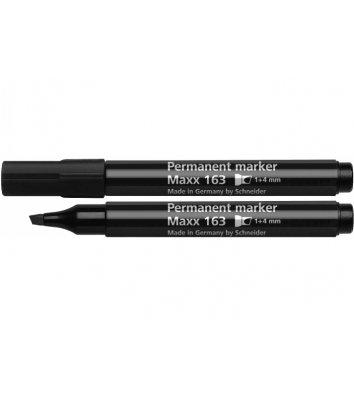 Маркер перманентний Maxx 163, колір чорнил чорний 1-4мм клиноподібний, Schneider