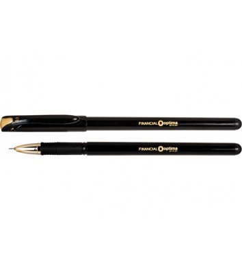 Ручка гелева Financial, колір чорнил чорний 0,5мм, Optima