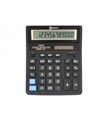 Калькулятор 12 разрядов бухгалтерский 200*158*30,5мм, Optima
