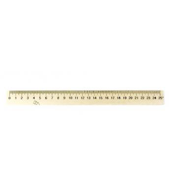 Лінійка 25см дерев'яна