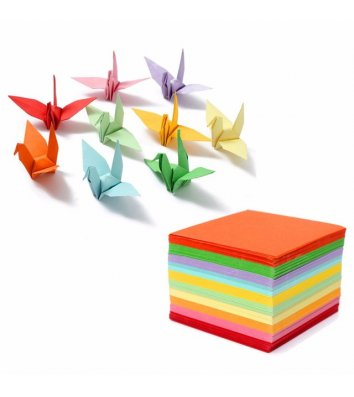 Бумага для оригами 20*20см 100л 10 цветов
