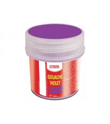 Краска гуашевая 40мл фиолетовая, Maxi