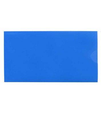 Папка-конверт E65 пластиковая синяя, Economix