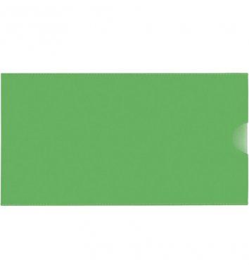 Папка-конверт E65 пластиковая зеленая, Economix