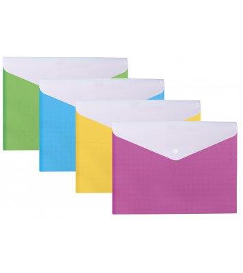 """Папка-конверт А4 на кнопці пластикова 2 відділення """"Вишиванка"""" асорті, Optima"""