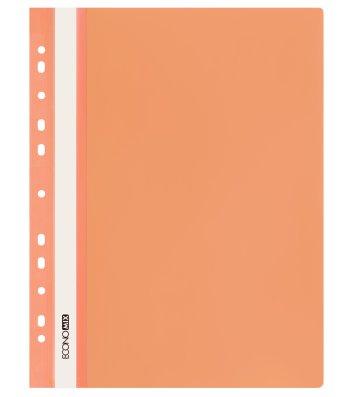 Папка-швидкозшивач А4 з перфорацією, фактура глянець помаранчева, Economix