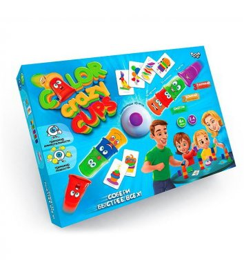 Гра настільна «Color Crazy Cups», Danko Toys