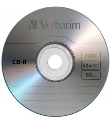 Диск CD-R 700mb 52x, Verbatim