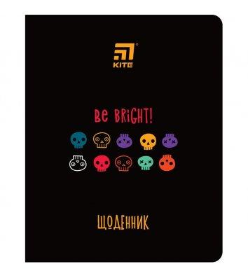 """Щоденник шкільний  А5 48арк """"Be Bright"""", Kite"""