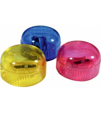 Чинка пластикова 1 лезо з контейнером асорті, Kum