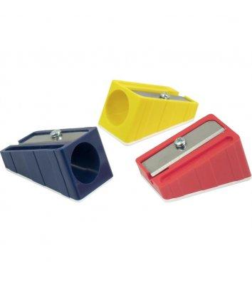 Чинка пластикова 1 лезо для великих олівців асорті, Kum