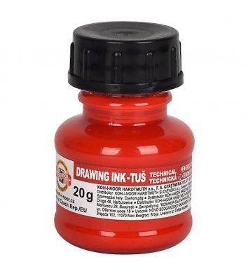 Туш для креслення 20г колір чорнил червоний, KOH-I-NOOR