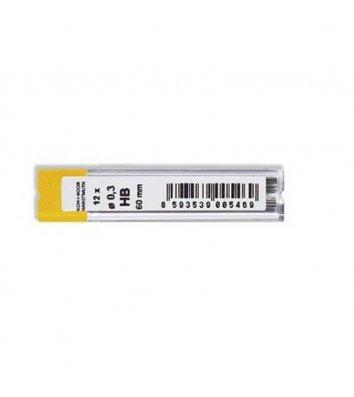 Стрижні до механічного олівця HB 0,3мм 12шт, KOH-I-NOOR