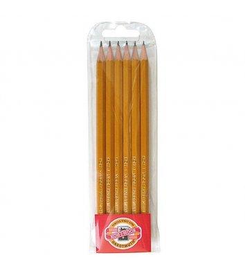 Набір чорнографітних олівців 1570 2H-2B 6шт, KOH-I-NOOR