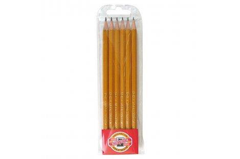 Набір чорнографітних олівців 2H-2B 6шт 1570, KOH-I-NOOR