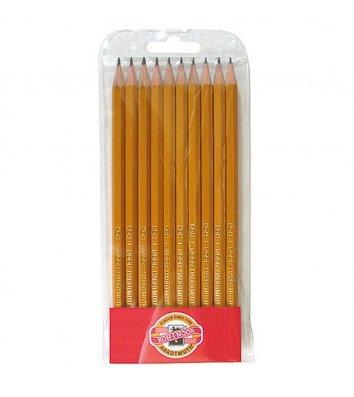 Набір чорнографітних олівців 1570 2H-3B 10шт, KOH-I-NOOR