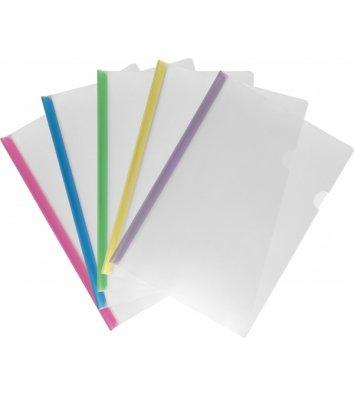 Папка А5 пластикова з планкою-затиском 2-95арк асорті, Economix