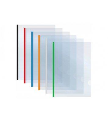 Папка А3 пластиковая с планкой-зажимом 2-65арк ассорти, Economix