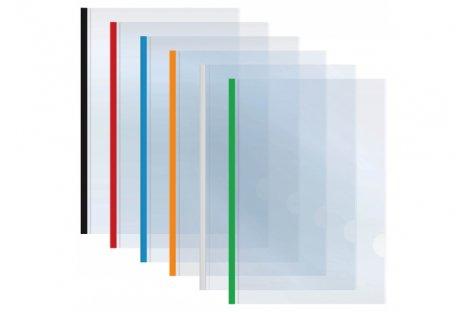 Папка А3 пластикова з планкою-затиском 2-65арк асорті, Economix