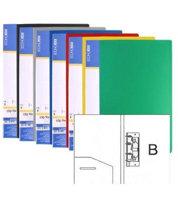 Папка А5 пластиковая с зажимом Clip B ассорти, Economix