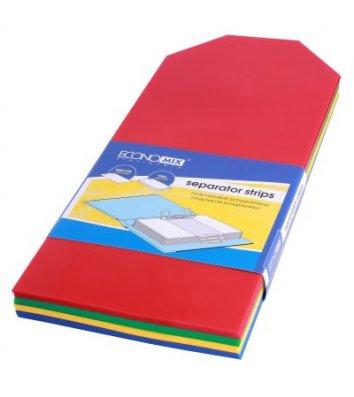 Розділювачі аркушів пластикові 100шт кольорові, Economix