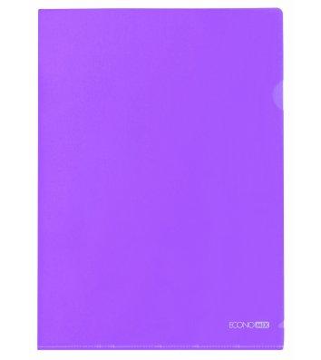 Папка-уголок А4 пластиковая фиолетовая, Economix