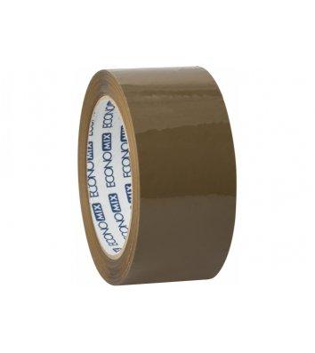 Стрічка клейка 48мм*100м пакувальна коричнева, Economix