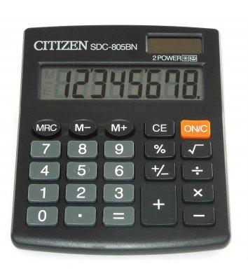 Калькулятор  8 розрядів 131*102*18мм, Citizen