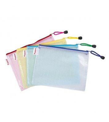 Папка-конверт B5 на блискавці пластикова асорті, Axent