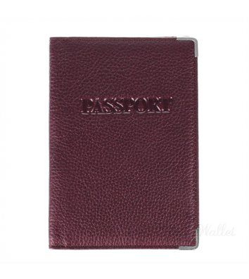 Обкладинка для паспорту шкіряна коричнева, Desisan