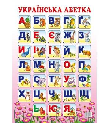 """Плакат навчальний """"Абетка"""" асорті"""