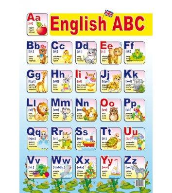 """Плакат навчальний """"Англійська абетка"""" асорті"""