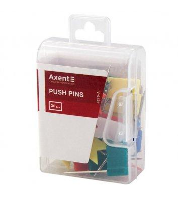 """Кнопки - цвяшки кольорові 30шт """"прапорці"""", Axent"""