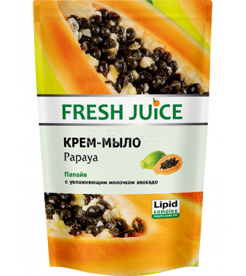 Мило рідке 460мл Fresh Juice пакет Папайя і Авокадо