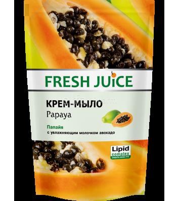 Мыло жидкое 460мл Fresh Juice пакет Papaya