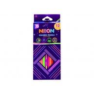 """Олівці кольорові 12шт тригранні """"Neon"""", Cool for School"""