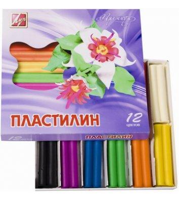 """Пластилін восковий 12 кольорів 210г """"Фантазія"""", Луч"""