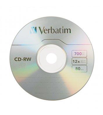 Диск CD-RW 700mb 12x, Verbatim