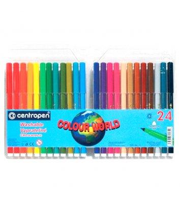 "Фломастеры 24 цвета ""Colour world"", Centropen"