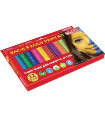 Краски для лица 12 цветов, Maxi
