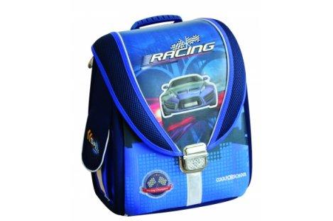 """Рюкзак каркасный школьный """"Blue Car"""", Cool for School"""