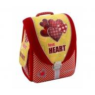 """Рюкзак каркасный школьный """"Love Heart"""", Cool for School"""